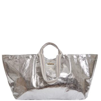 Bigger&stripe xxl shopper silber