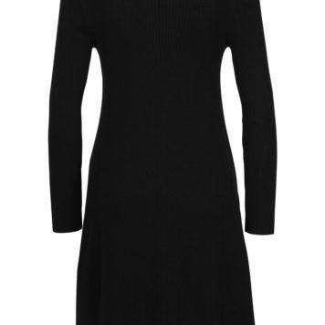 Solid dress black
