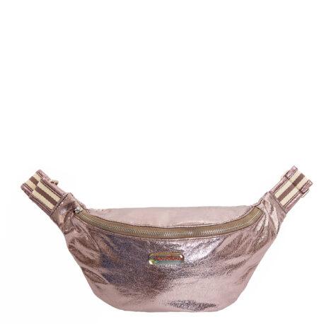 Belt&bag glitter stripe anthra