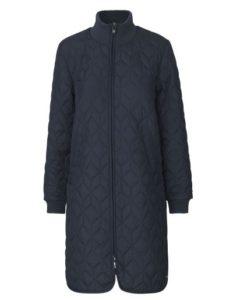 Padded quillt coat dark indigo