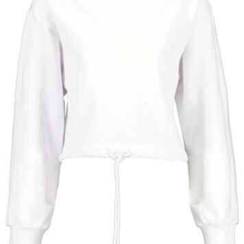 Hudson Sweat crop white
