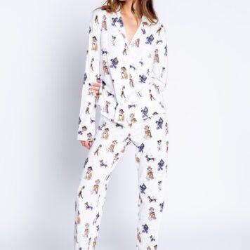 Pyjama offwhite dogs
