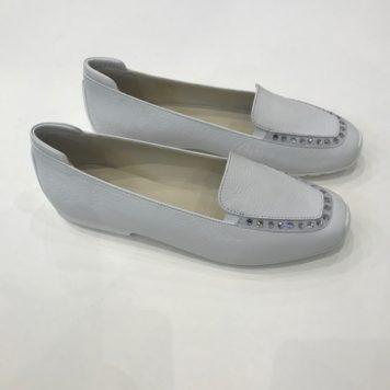 Slipper bianco strass
