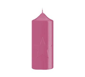 ENGELS KERZEN Stern-Lack pink Höhe15