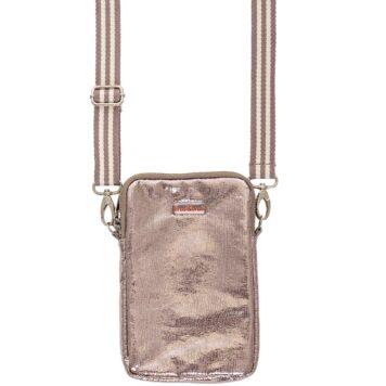 BRASI&BRASI Handy&Zip Stripe Glitter anthrazit