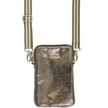 BRASI&BRASI Handy&Zip Stripe Glitter olive